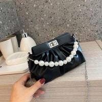 Small Size Fashion Shoulder Messenger Bag - Black