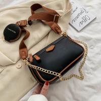 Small Size Ladies Luxury Crossbody Messenger Bag - Black