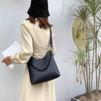 Medium Size Ladies Fashion Bucket Crossbody Bag - Black