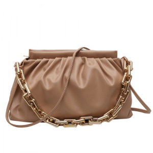 Medium Size Ladies Fashion Crossbody Bag - Brown