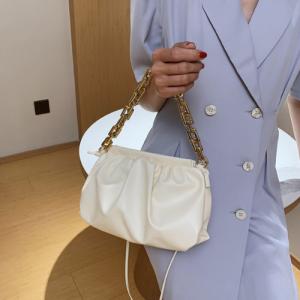 Medium Size Ladies Fashion Crossbody Bag - Cream White