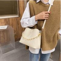 Retro Medium Size Women Fashion Crossbody Bag - Cream White