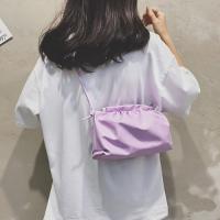 Small Size Woman Dumpling Fashion Crossbody Messenger Bag - Purple
