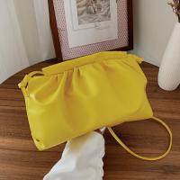 Small Size Woman Dumpling Fashion Crossbody Messenger Bag - Yellow