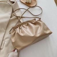 Small Size Woman Dumpling Fashion Crossbody Messenger Bag - Beige