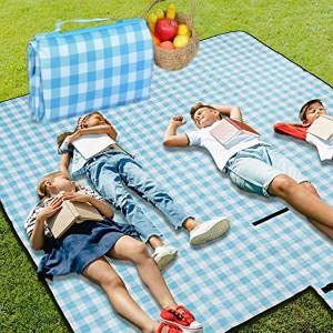 Portable Waterproof Travel Outdoor Picnic Carpet Mat - Blue