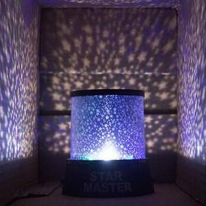 Usb Power Multicolor Master LED Night Light Projector Lamp - Black