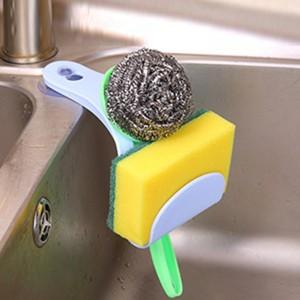 Easy Adhesive Sink Sponge Storage Stand Rack - Blue