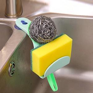 Easy Adhesive Sink Sponge Storage Stand Rack - Green