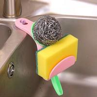 Easy Adhesive Sink Sponge Storage Stand Rack - Pink