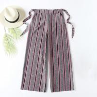 Stripes High Waist Wide Leg Comfy Wear Trouser For Women - Pink