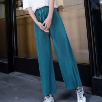 Ribbed Fashion Closure String Comfy Wear Trouser - Green