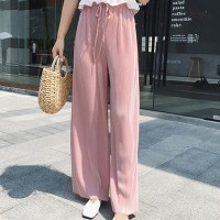 Ribbed Fashion Closure String Comfy Wear Trouser - Pink