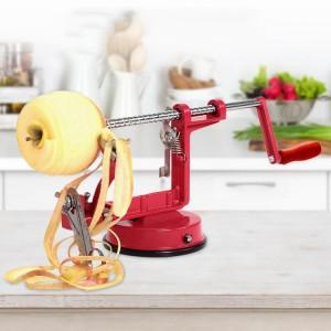 Three In One Multi Function Apple Peeler - Red