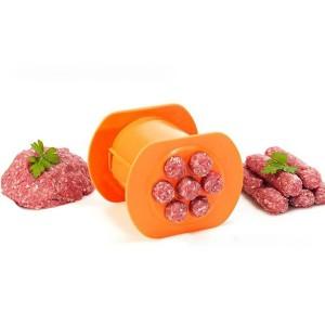 Hot Dog Meat Strips Pasta Squeezer Handmade Mold  Maker - Orange