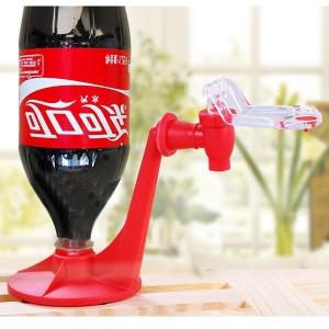 Coke Bottle Inverted Drinking Water Dispenser Device - Red