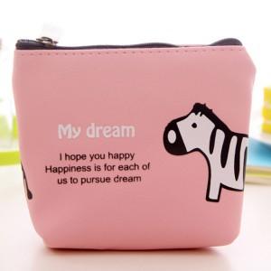 Animal Print Zipper Closure Mini Messenger Bag - Pink