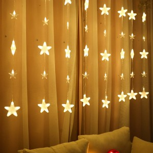40 Pieces Home Party Decoration LED Curtain String Lights - Yellow