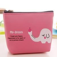 Animal Print Zipper Closure Mini Messenger Bag - Rose Pink