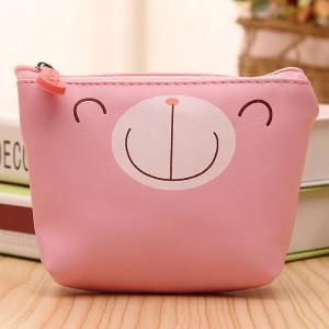 Animal Print Zipper Closure Mini Coins Messenger Bag - Pink