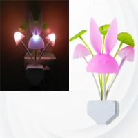 Mushroom Rabbit Automatic Light Sensor Night Light - White