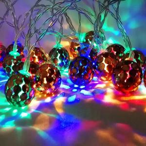 20 Pieces Circular Hollow Ball String Led Lights Bulbs - Multi Color