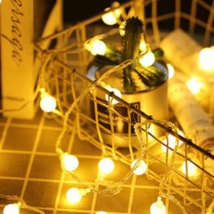 100 Pcs Bulb Circular Outdoor Indoor Decoration Lights - White