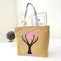 Fashionable One Shoulder Canvas Cloth Ladies Bag - Khaki