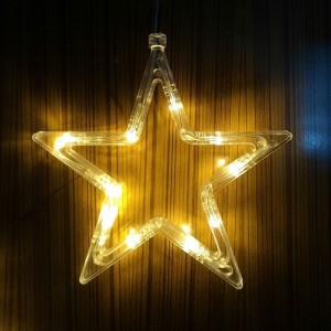 Star Shape Led Sucker Fix Decorative Lamp Light - White