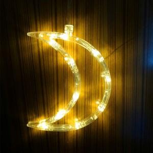 Moon Shape Led Sucker Fix Decorative Lamp Light - White