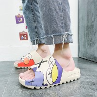 Rubber Sole Thick Bottom Casual Wear Slippers - Multicolor