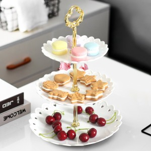 Multi Layers Fruits And Cake Rack Holder Stand - White