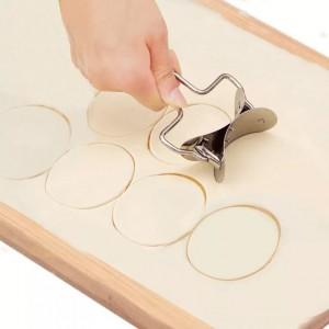 Stainless Steel Quick  Dumpling Maker Cutter - Silver