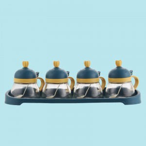 4 Pcs Set Seasoning Creative Salt Capacity Jar - Blue