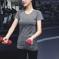 Mesh Pattern Sportswear Casual Wear T-Shirt - Gray