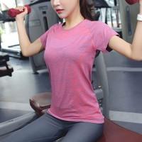 Mesh Pattern Sportswear Casual Wear T-Shirt - Pink