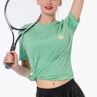 Mesh Pattern Sportswear Casual Wear T-Shirt - Green