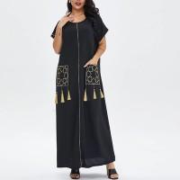 Tassel Duo Pocket Maxy Wear Full Length Dress