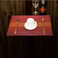 Non Slip Heat Protect Modern Dining Table Mat - Orange