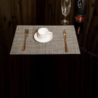 Non Slip Heat Protect Modern Dining Table Mat - Gray