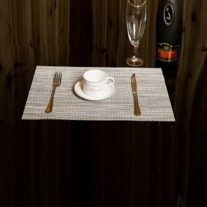Non Slip Heat Protect Modern Dining Table Mat - White