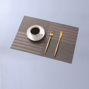 Non Slip Heat Protect Modern Dining Table Mat - Apricot