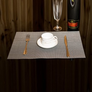 Non Slip Heat Protect Modern Dining Table Mat - Black And White