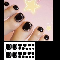 Set Of 22 Pieces Full Beauty Foot Nails 3D Stickers 226 - Black