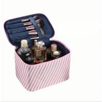 Leaves Printed Zipper Closure Traveller Cosmetics Bags - Pink