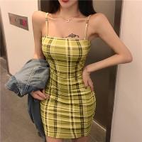 Geometric Printed Body Fitted Mini Dress - Green