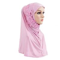 Crystal Decorative Bohemian Muslim Women Fashion Scarf - Purple