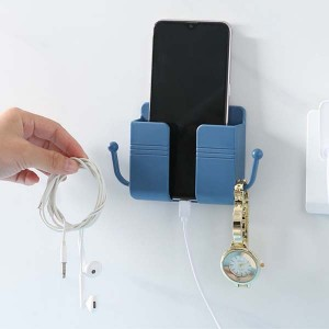 Wall Mounted Pen Cup Cell Phone Charging Rack Media Hanging Storage Container for Home