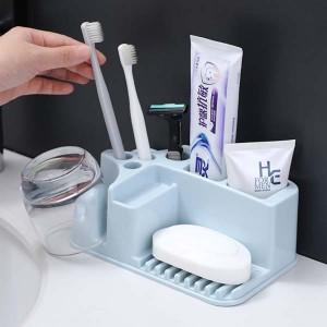 High Quality Plastic Wall Adhesive Bathroom Rack