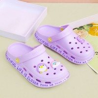 Hollow Clog Style Soft Wear Slippers - Purple
